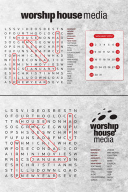 """This month's free wallpaper is not just something pretty to look at – it's also a word search! We've gone ahead and found """"Worship"""", """"House"""", """"Media"""", ..."""