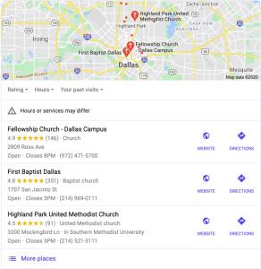 google church location pack