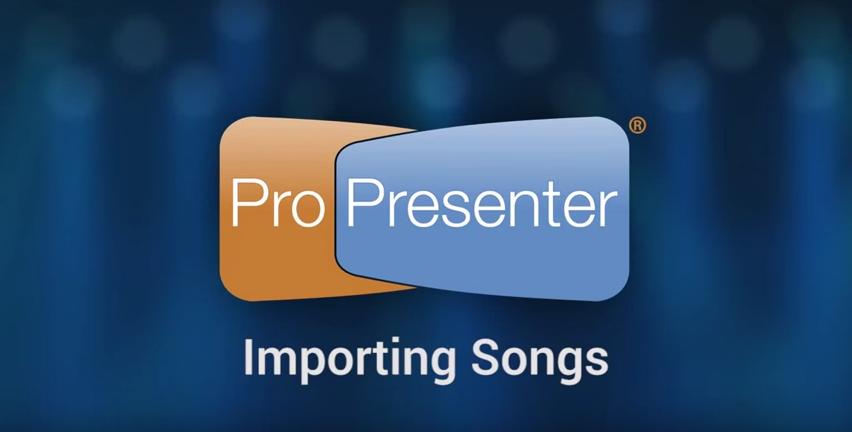 Three Ways To Import Song Lyrics into ProPresenter 6