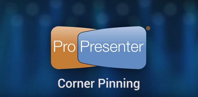 Adjusting ProPresenter 6 for Screen Size: Corner Pinning