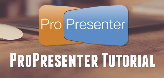 Setting Up ProPresenter with Customized Settings and