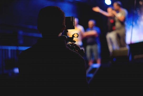 camera toward stage