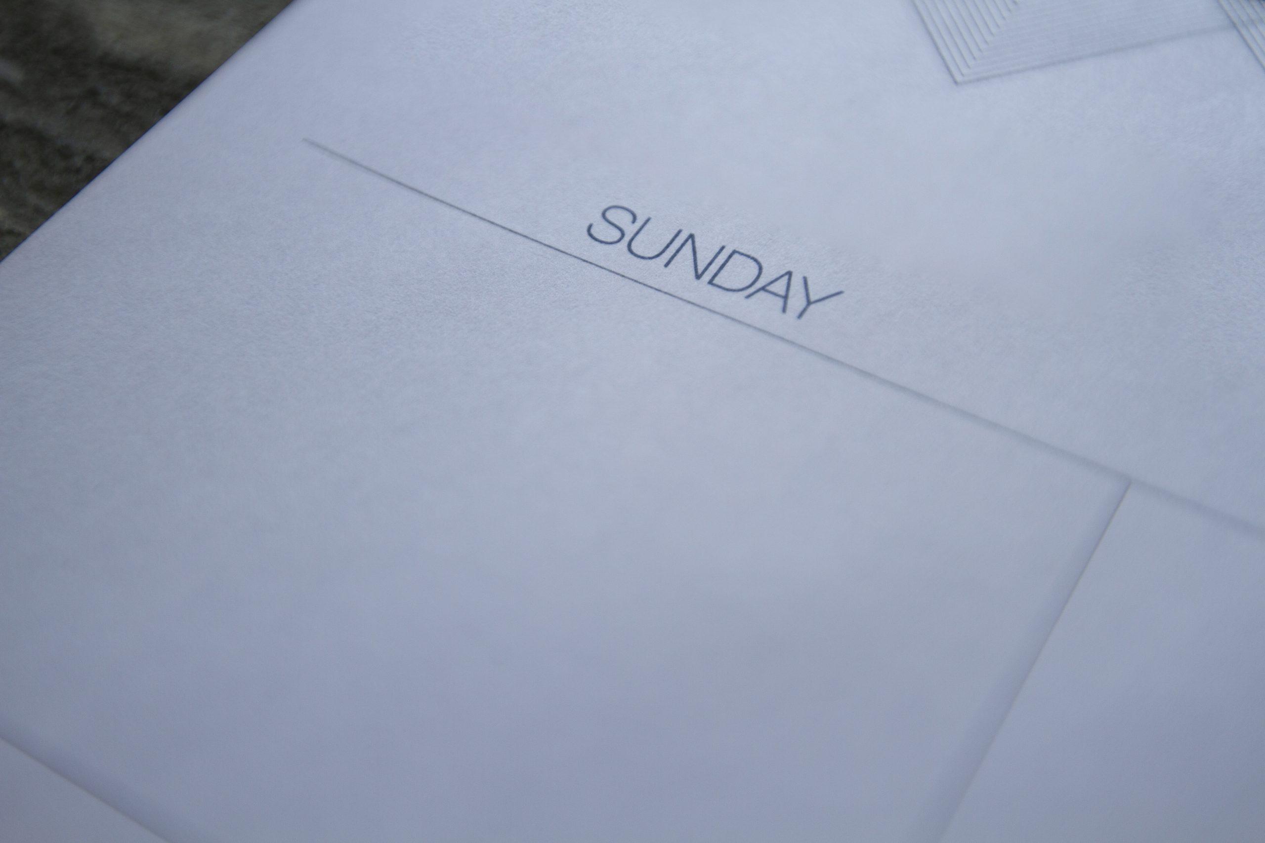 sunday calendar
