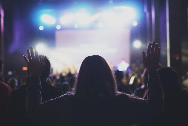worship raised hands